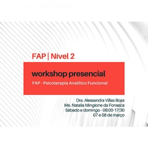 Workshop Nivel 2 FAP - Psicoterapia Analítico Funcional